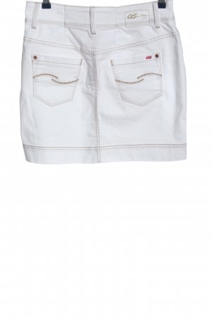 QS by s.Oliver Jeansrock weiß Casual-Look