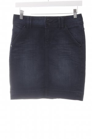 QS by s.Oliver Jeansrock dunkelblau Casual-Look