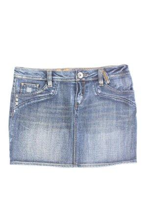 QS by s.Oliver Denim Skirt blue-neon blue-dark blue-azure cotton