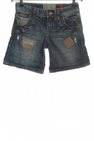 QS by s.Oliver Jeansshorts blau-braun Casual-Look