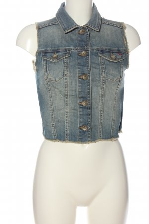 QS by s.Oliver Jeansweste blau-wollweiß Casual-Look