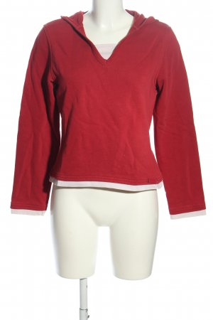 QS by s.Oliver Hooded Sweater red-white casual look