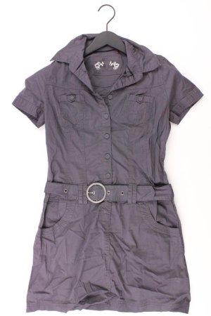 QS by s.Oliver Kleid Größe 36 grau aus Baumwolle