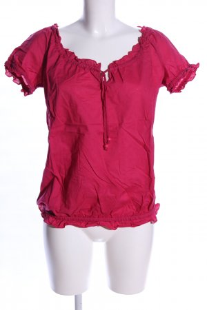 QS by s.Oliver Kurzarm-Bluse pink Business-Look