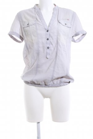 QS by s.Oliver Kurzarm-Bluse hellgrau Casual-Look
