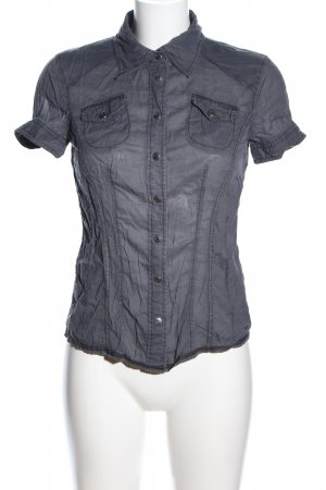QS by s.Oliver Kurzarm-Bluse hellgrau Motivdruck Casual-Look