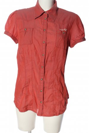 QS by s.Oliver Short Sleeve Shirt red-white printed lettering casual look