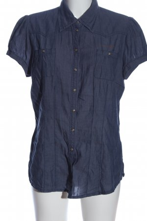 QS by s.Oliver Kurzarmhemd blau Casual-Look