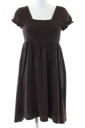 QS by s.Oliver Kurzarmkleid braun Casual-Look
