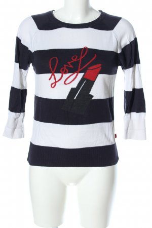 QS by s.Oliver Kurzarmpullover Motivdruck Casual-Look