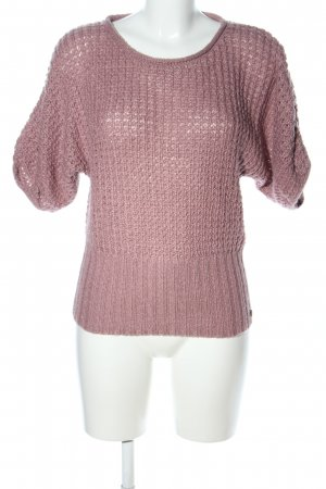 QS by s.Oliver Kurzarmpullover pink Zopfmuster Casual-Look