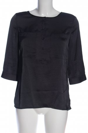 QS by s.Oliver Langarm-Bluse schwarz Casual-Look