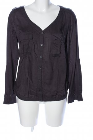 QS by s.Oliver Langarm-Bluse schwarz Business-Look