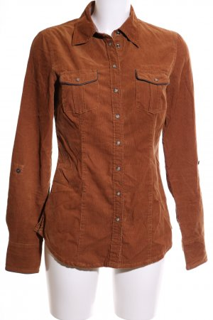 QS by s.Oliver Langarmhemd bronzefarben Casual-Look