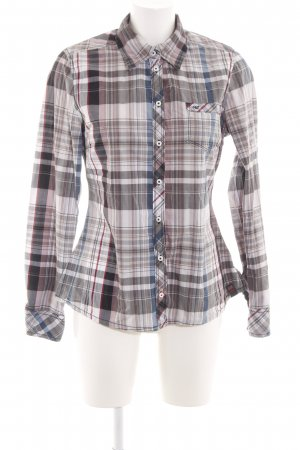 QS by s.Oliver Langarmhemd hellgrau Allover-Druck Casual-Look