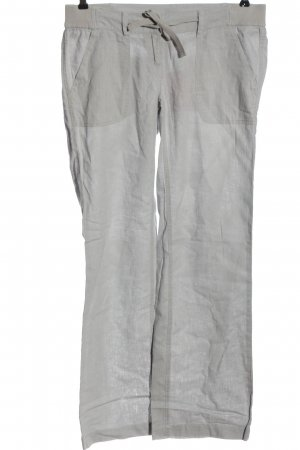 QS by s.Oliver Linen Pants light grey casual look