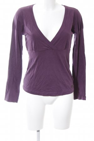 QS by s.Oliver Longsleeve lila Casual-Look