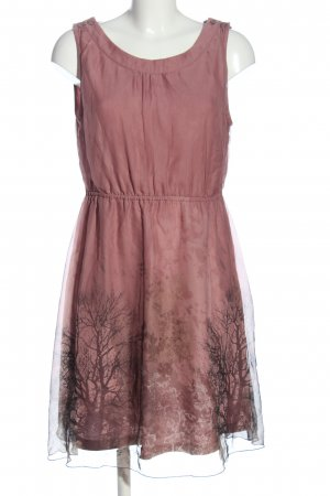 QS by s.Oliver Minikleid pink-schwarz Allover-Druck Casual-Look