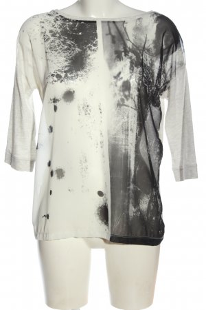 QS by s.Oliver T-Shirt weiß-hellgrau abstraktes Muster Casual-Look