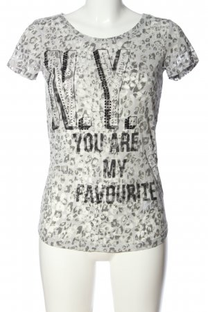 QS by s.Oliver Print-Shirt hellgrau Leomuster Casual-Look