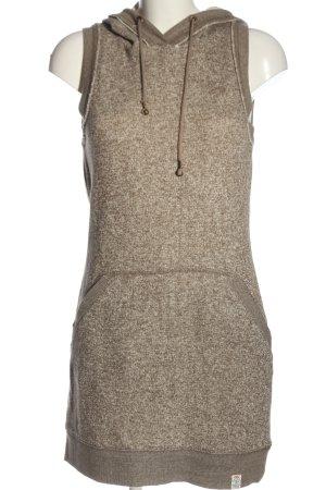 QS by s.Oliver Abito maglione marrone-bianco puntinato stile casual