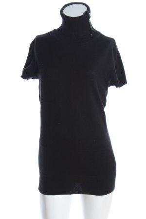 QS by s.Oliver Camisa de cuello de tortuga negro look casual