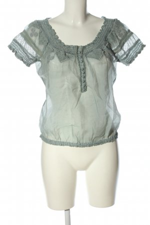 QS by s.Oliver Rüschen-Bluse blau Casual-Look