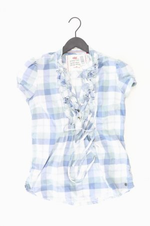 QS by s.Oliver Ruffled Blouse blue-neon blue-dark blue-azure