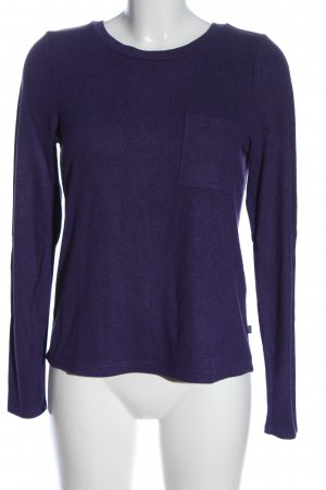 QS by s.Oliver Rundhalspullover lila Casual-Look