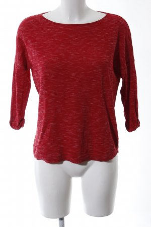 QS by s.Oliver Rundhalspullover rot meliert Casual-Look