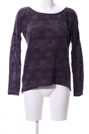 QS by s.Oliver Rundhalspullover lila Motivdruck Casual-Look