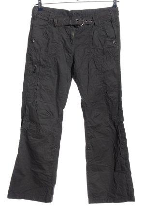 QS by s.Oliver Pantalone a zampa d'elefante grigio chiaro stile casual