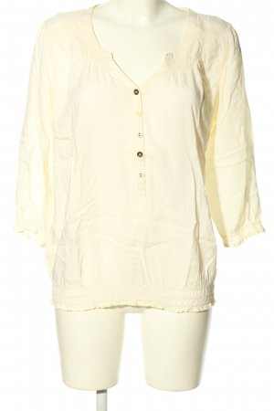QS by s.Oliver Schlupf-Bluse creme Casual-Look