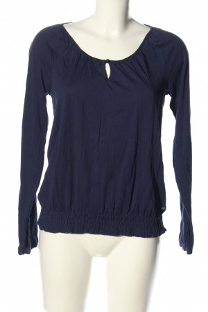 QS by s.Oliver Schlupf-Bluse blau Casual-Look