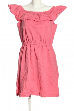 QS by s.Oliver schulterfreies Kleid pink Casual-Look