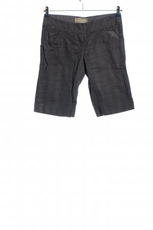QS by s.Oliver Shorts schwarz-hellgrau Karomuster Casual-Look