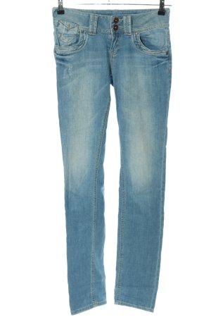 QS by s.Oliver Jeansy z prostymi nogawkami niebieski Bawełna