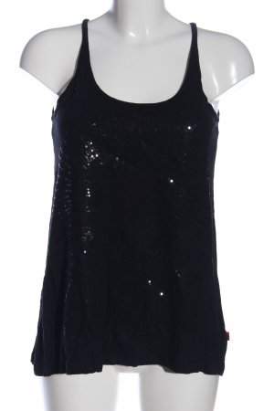 QS by s.Oliver Spaghettiträger Top schwarz Casual-Look