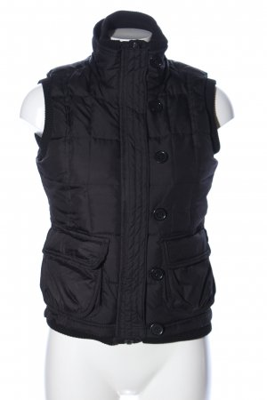 QS by s.Oliver Quilted Gilet black quilting pattern casual look