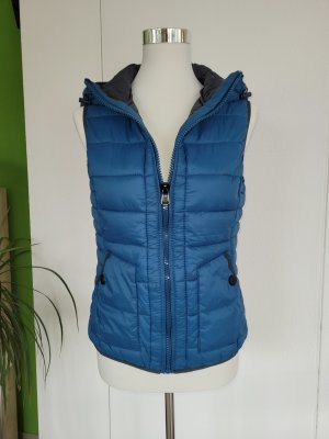 QS by s.Oliver Quilted Gilet slate-gray-cadet blue