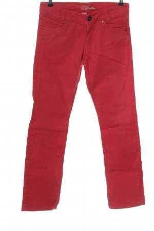 QS by s.Oliver Straight-Leg Jeans rot Casual-Look