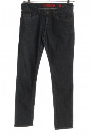 QS by s.Oliver Straight-Leg Jeans schwarz-rot Casual-Look