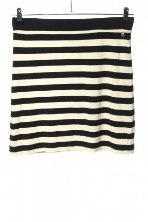 QS by s.Oliver Stretch Skirt black-white striped pattern casual look