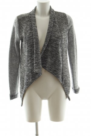 QS by s.Oliver Strick Cardigan hellgrau-weiß meliert Casual-Look