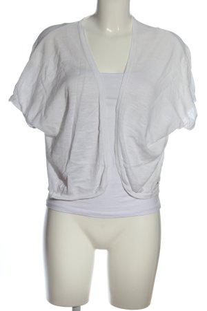 QS by s.Oliver Boléro en tricot blanc style décontracté