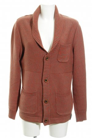 QS by s.Oliver Strickjacke hellrot-dunkelgrau meliert Casual-Look