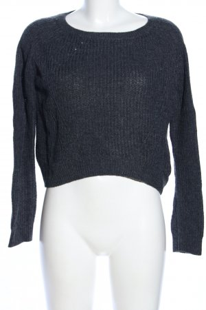 QS by s.Oliver Strickpullover schwarz Zopfmuster Casual-Look