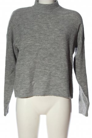 QS by s.Oliver Strickpullover hellgrau meliert Casual-Look