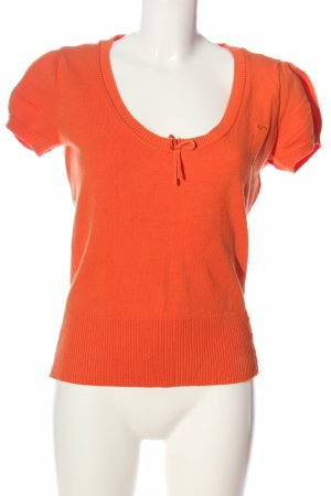QS by s.Oliver Strickshirt hellorange Casual-Look