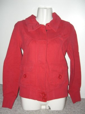 QS by S.Oliver, Sweatjacke, Hoodie, Rot, Gr. S (36/38)